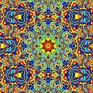 Psychedelic Melting Pot Mandala   by Leah McNeir