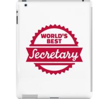 World's best secretary iPad Case/Skin