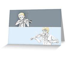 Violin Playing Greeting Card