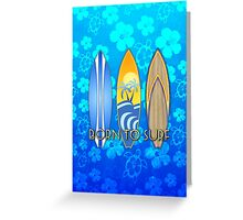 Born To Surf Honu Greeting Card