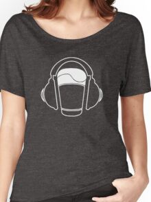 Music listening beer...  Women's Relaxed Fit T-Shirt