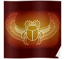 Glow Red Scarab Poster