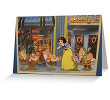 Disney Snow White and the 7 Dwarfs Dopey Disney Princesses Villians Greeting Card
