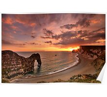 Durdle Sunset - HDR - Jurassic Coast World Heritage Site Series Poster