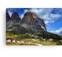Sassolungo Scale! The Dolomites Canvas Print