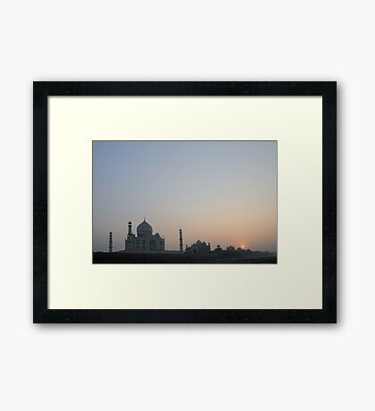 Sunset at Taj Mahal Framed Print