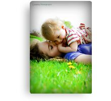She Holds Her Sunshine Close To Her Heart Canvas Print
