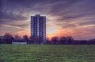 Moor Tower Sunset by Nigel Bangert
