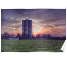 Moor Tower Sunset Poster