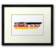 Grungy BMW E30 a front end with E30 badge in german flag colors Framed Print