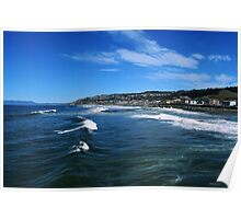The View From The Pacifica Pier Poster