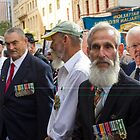 Veterans at Anzac Day by Andrew  Makowiecki