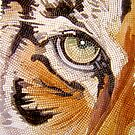 """Tiger Tiles""  Watercolor Mosaic by Paul Jackson"