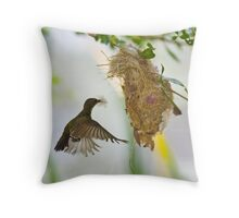 Little Spiderhunter 1 Throw Pillow