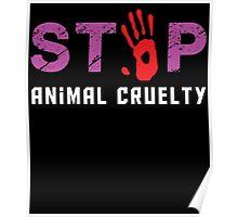 stop animal cruelty Poster