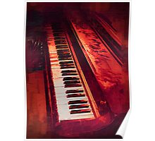 Old Beaten Up Piano Poster