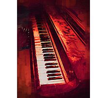 Old Beaten Up Piano Photographic Print