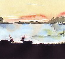 Impala in an African landscape by Maree  Clarkson