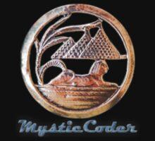 MysticCoder Logo &  Clear Amulet One Piece - Short Sleeve