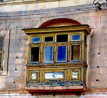 Old Maltese Balcony by DeborahDinah