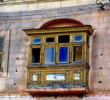 Old Maltese Balcony by DeborahDinah