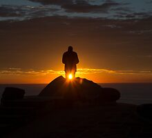 Anzac day sunrise Long reef headland by Doug Cliff