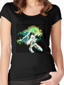 Galaxy Girl Women's Fitted Scoop T-Shirt