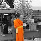 Buddhist monk  by indiafrank