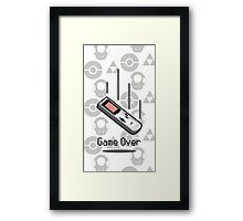 Game Over Framed Print