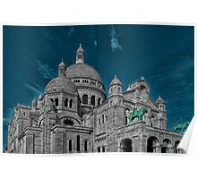 The Basilica of the Sacred Heart of Paris Poster