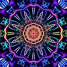 """""""Return to Awe"""" - Psychedelic Abstract Mandala  by Leah McNeir"""