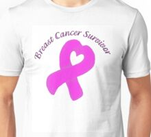 Breast Cancer Heart Survivor Unisex T-Shirt