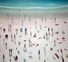 beach yoga by bronnewbury