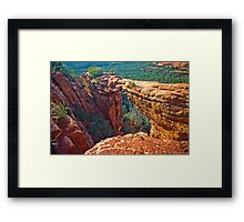 Sedona, Devils Bridge Framed Print