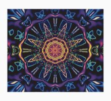 """""""Return to Awe"""" - Psychedelic Abstract Mandala  One Piece - Short Sleeve"""
