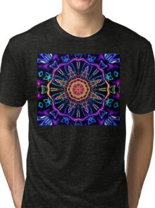 """Return to Awe"" - Psychedelic Abstract Mandala  Tri-blend T-Shirt"