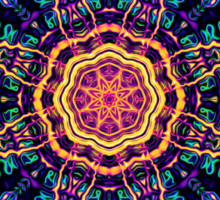 """""""Return to Awe"""" - Psychedelic Abstract Mandala  Sticker"""