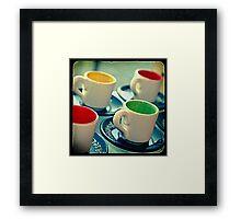 Ttv: 4 Cups Framed Print