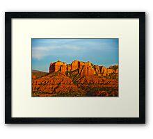 Dusk Over the Sedona Valley Framed Print