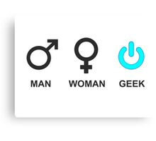 Man Woman Geek Sign  Canvas Print