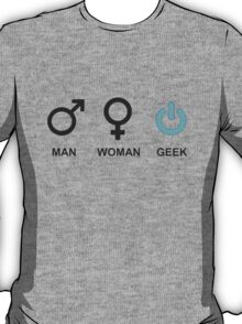 Man Woman Geek Sign  T-Shirt