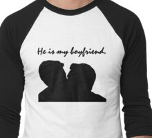 Jude and Connor - He is my boyfriend Men's Baseball ¾ T-Shirt