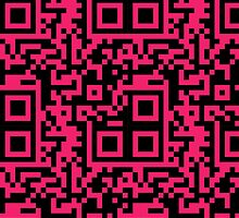QR Code - Hot Pink by Hayden Di Bona
