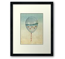 balloon fish Framed Print