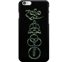 EXTREME DISTRESSED TRIQUETRA - morning moss V iPhone Case/Skin