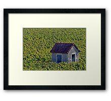 Vineyard Hut Framed Print