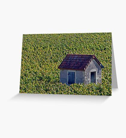 Vineyard Hut Greeting Card