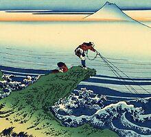 'Kajikazawa in the Kai Province' by Katsushika Hokusai (Reproduction) by Roz Abellera Art Gallery