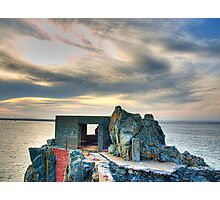 Bunker on a Headland - Alderney Photographic Print