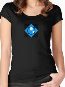 World of Tech Black Women's Fitted Scoop T-Shirt